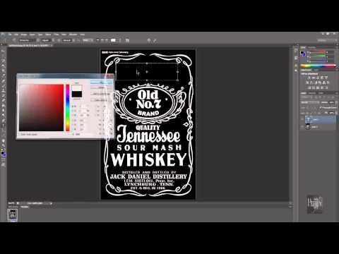 How to make Jack Daniels logo in Photoshop