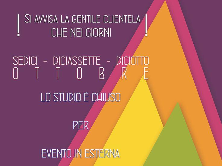 AVVISO DI CHIUSURA PER EVENTO IN ESTERNA www.fotochiara.it
