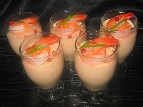 recette de cuisine verrines de mousse de crevettes