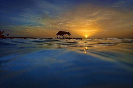 Nadia Sanowar - Sunset At Pigeon Point in Tobago, The Caribbean