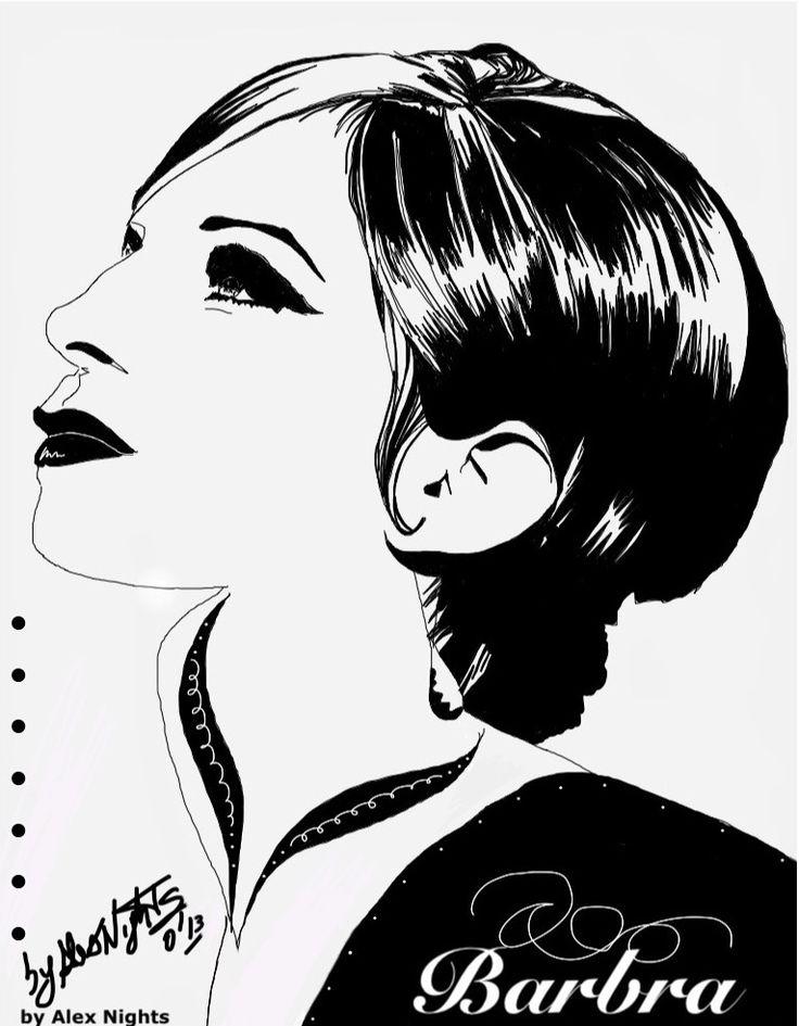 ★ Barbra Streisand ★   (Sketch on iPad) by Alex Nights (c) 2013