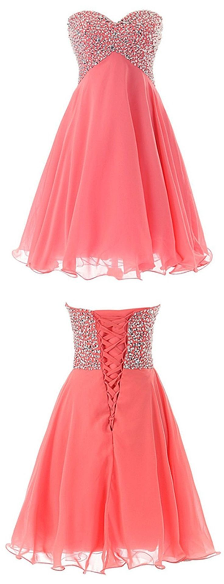 Homecoming Dresses 2018 2016 homecoming dress,sparkling homecoming dress,chiffon homecoming dress,mini homecoming dress,coral homecoming dress,lace up homecoming dress,teen fashion dress,coral back to school dress,cheap homecoming dress,2016 cheap homecoming dress under 100$