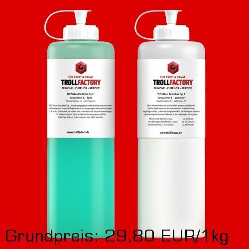 TFC Silikon Kautschuk Typ 1 Abformsilikon weich 1:1 NV 1kg