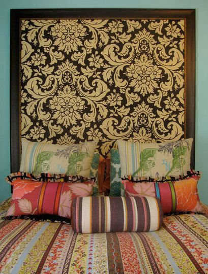 1000 ideas about faux headboard on pinterest headboards - Papel empapelar paredes ...
