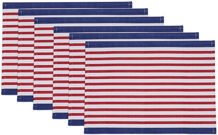 DESIGN IMPORTS Design Imports Nautical Stripe Set of 6 Placemats