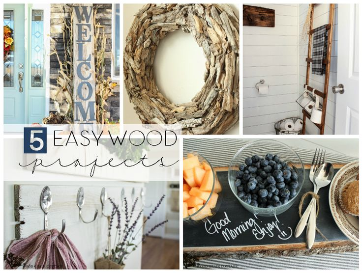 5 Easy Wood Projects To Try by The Wood Grain Cottage