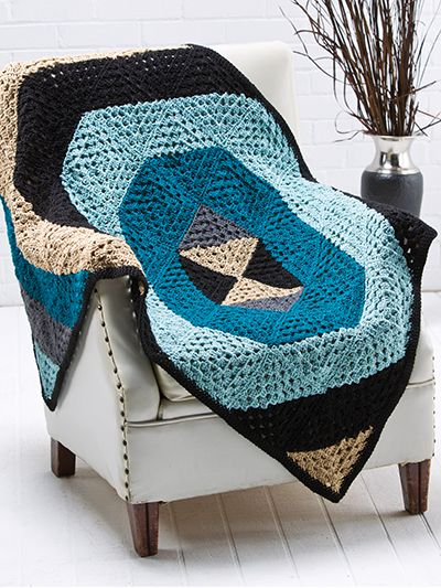 Free Crochet Pattern Download -- This Quantum Geo Throw, designed by Carrie Carpenter, is featured in episode 4, season 3 of Knit and Crochet Now! TV. Learn more here: https://www.anniescatalog.com/knitandcrochetnow/patterns/detail.html?pattern_id=92&series=2