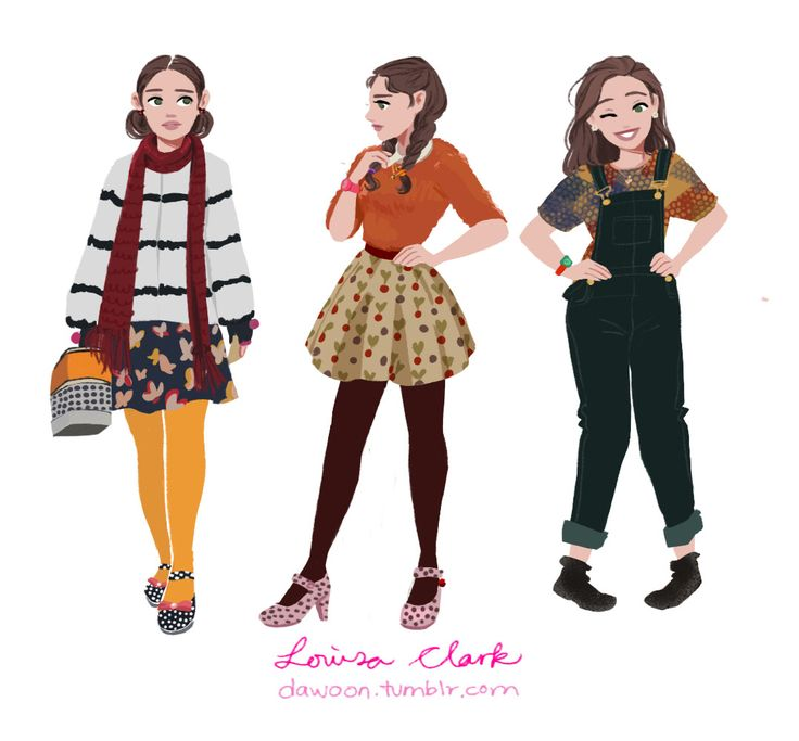 Louisa Clark's Outfits part 1 (Click here for part2)