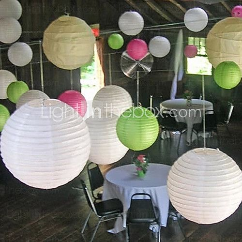 Wedding Décor 8 Inch(20cm) Chinese Lantern for  Baby Shower Birthday Decoration - CAD $1.38