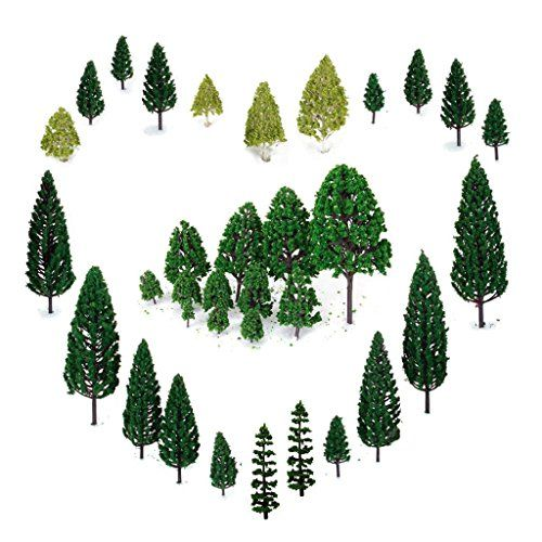 29pcs Mixed Model Trees 1.5-6 inch(4 -16 cm), OrgMemory Ho Scale Trees, Diorama Models, Model Train Scenery, Architecture Trees, Model Railroad Scenery with No Stands - Please be reminded that due to lighting effects and monitor's brightness/contrast settings etc, the color tone of the website's photo and the actual item could be slightly different WARNING: Don't wet water