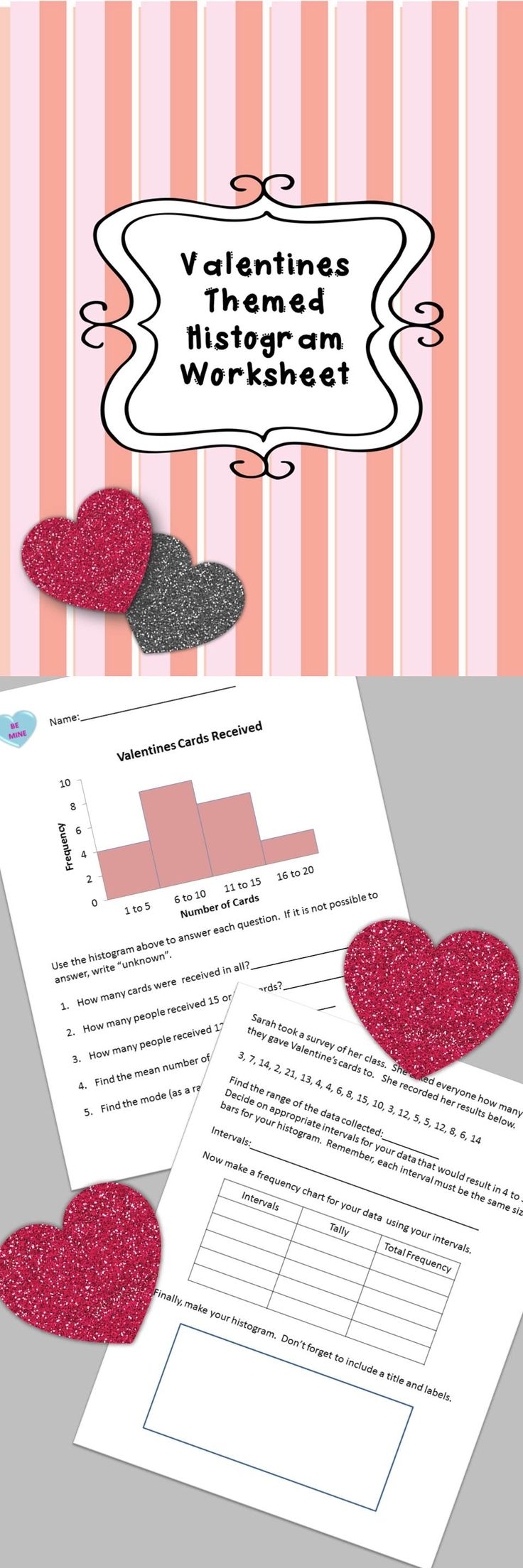 9 best math family night images on pinterest math night a quick valentines day worksheet to practice reading and making histograms robcynllc Gallery
