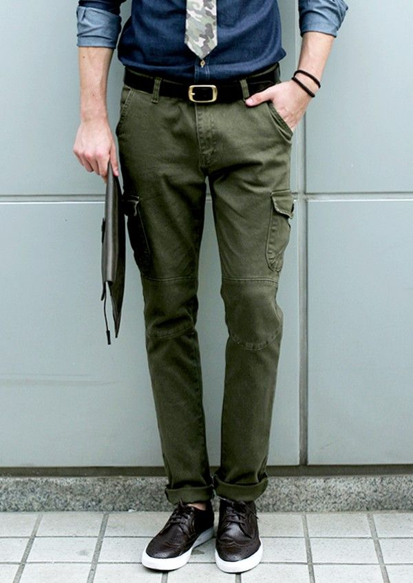 $14.99 Casual Slim Straight Cargo Pants
