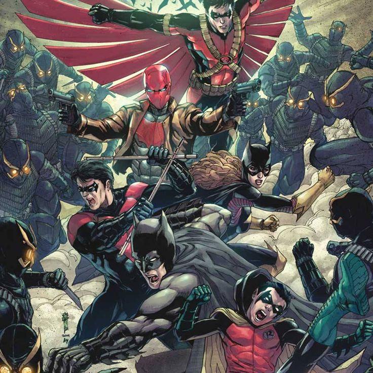 Batman, Robin, Nightwing, Red Hood, and Batgirl by Garrie Gastonny *