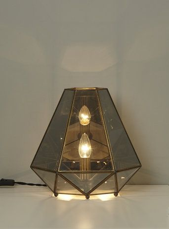 89 best home lighting general images on pinterest bhs home bhs illuminate addie table lamp smoke glass and copper geometric mozeypictures Image collections