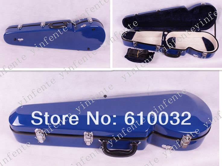 "dark  blue   colour Glass fiber reinforced viola case adjustable from 15"" to 16.5 inches black  color"