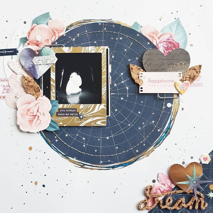 My take on @thinkpinkandmint's lovely May sketch. Featuring a lot of @pinkpaislee's Moonstruck collection and a bit of paint. Check out Uli's in the @scrapbookwerkstatt inspiration gallery and show us your own interpretation! #sbwdesignteam #sbw #papercraft #papercrafting #craft #crafting #diy #scrapbooklayout #patternedpaper #memorykeeping #ppmoonstruck