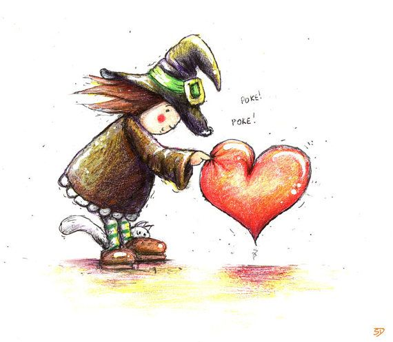 I love you card  I Love you art I love you print by ShamVanDamn