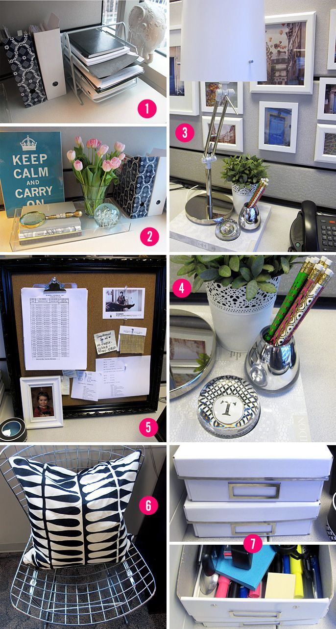 Your cubicle space can be pretty and inspiring. Cubicle Makeover | Empirella