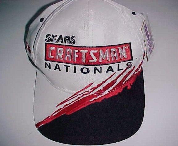 Sears Craftsman National 2000 NHRA Winston Drag Racing White Cap 1 Size New #SportService