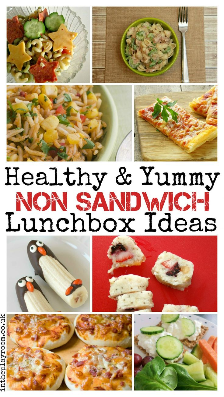 Healthy and yummy non sandwich lunchbox ideas for all the family. These ideas will be so useful for back to school