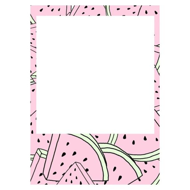 pastel, picture frame, polaroid, transparent, tumblr, watermelon
