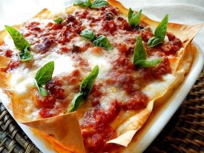 トマトソースがおいしいナポリ風ラザーニャ