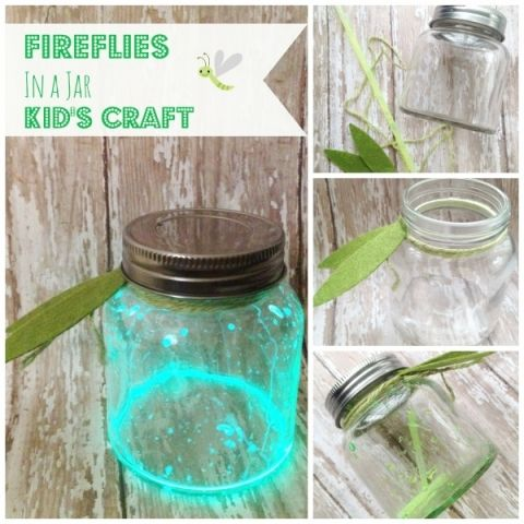 DIY Fireflies in a Jar Craft for Kids