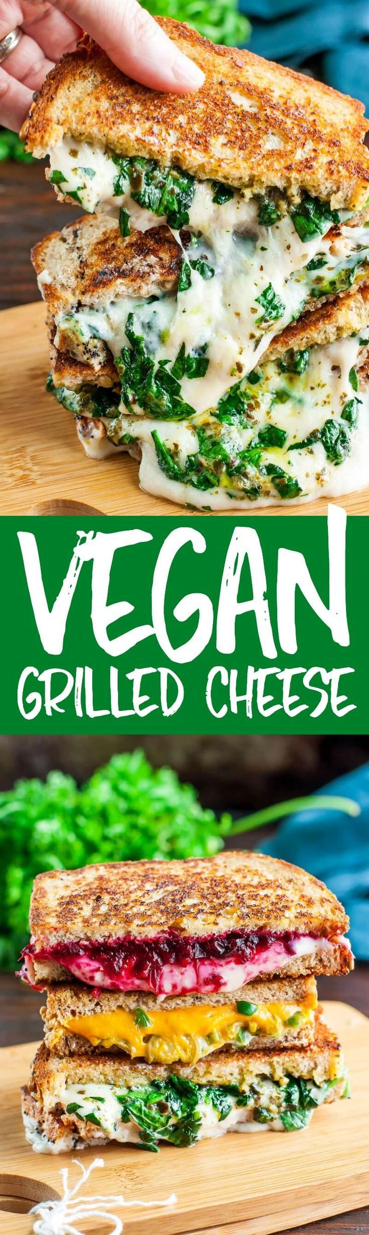 Vegan Grilled Cheese Recipes Swiss Pesto, Jalapeño Popper Cheddar, Cranberry Pecan Provolone