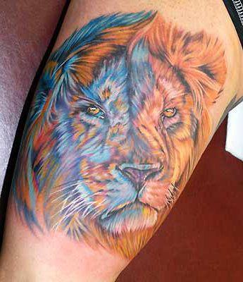 lion sunflower tattoo - Google Search