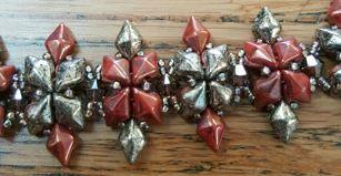 Studded Diamond Bracelet Pattern by foreverbeading23 on Etsy