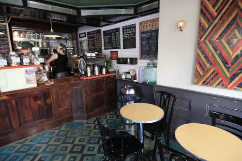 Bedford Hill Coffee Bar: Brooklyn-baked Ovenly pastries sit in handsome jewelry display cases, and while the coffee is of the more rocket-fuel than tasting-note style, espresso drinks (brewed with Milwaukee-based Anodyne roasters espresso blend) are rich and flavorful.
