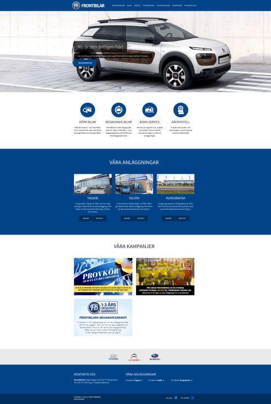 web design for Frontbilar - made by mkmedia - Gothenburg Sweden