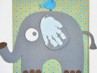 Cómo hacer un cuadro con huellas de bebé