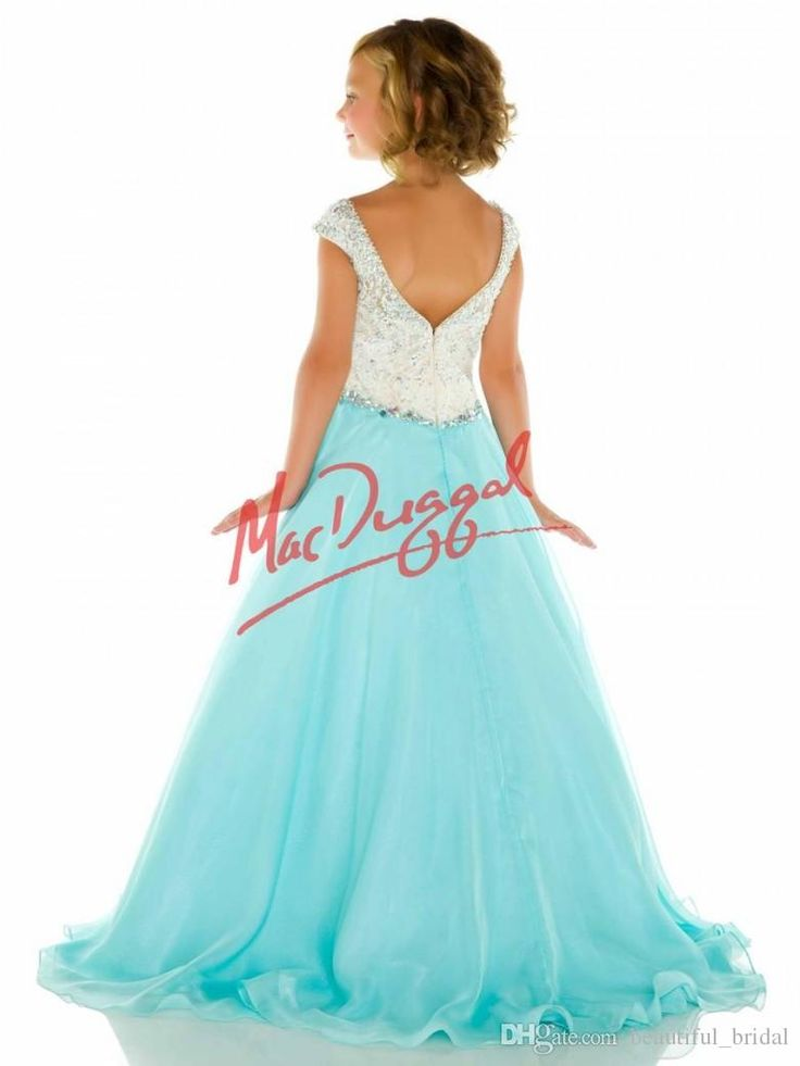Custom Elegant Pageant Dresses for Girls Bateau Crystals Beads Kids Prom Dress Floor Length Zipper Little Girl Pageant Interview Outfits