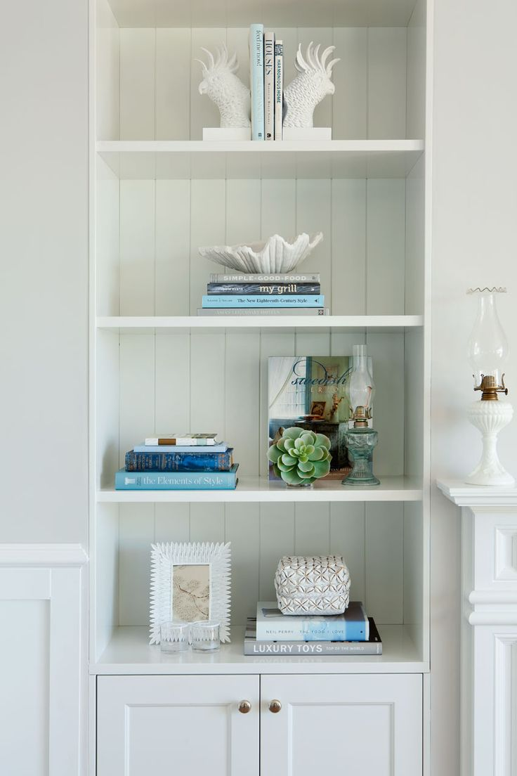 Queensland Homes Blog > Real Home: Blue Daze simple bookcases with simple display