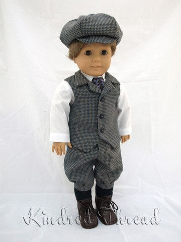 Kindred Thread Boy's Knicker Suit Doll Clothes Pattern 18 inch American Girl Dolls | Pixie Faire