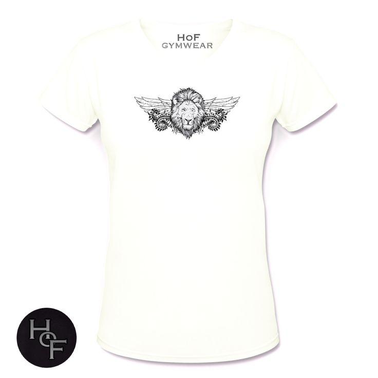 Our bright white gymwear tshirt   #tshirt #gymwear #fitness #fashion #hofgymwear