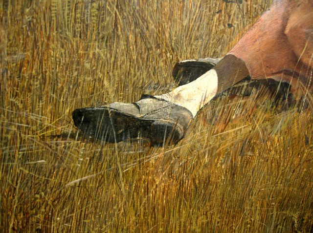 Andrew Wyeth 'Christina's World' (detail) 1948 (photo by Plum leaves, via Flickr