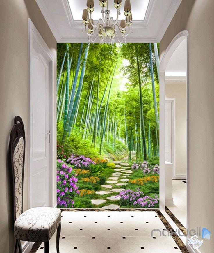 17 best ideas about 3d wall murals on pinterest wall for Bamboo forest wall mural wallpaper