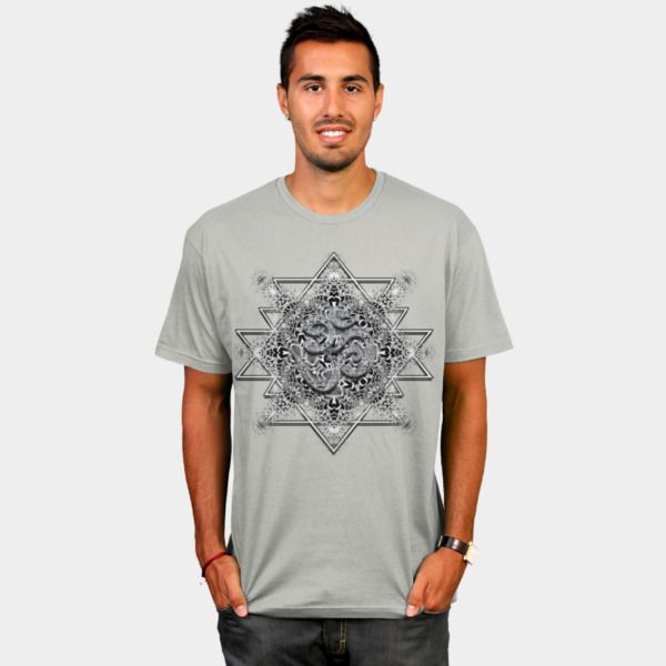 OM Tribal Geometry T Shirt By Webgrrl Design By Humans