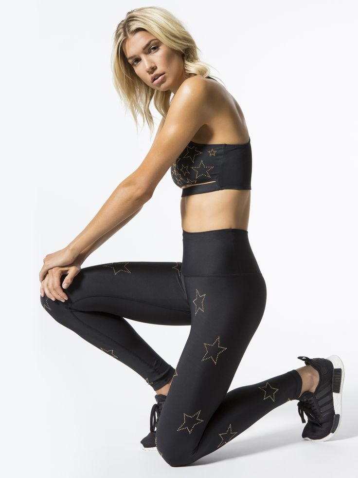 Zoe Leggings in Black by Beach Riot For Carbon38 from Carbon38