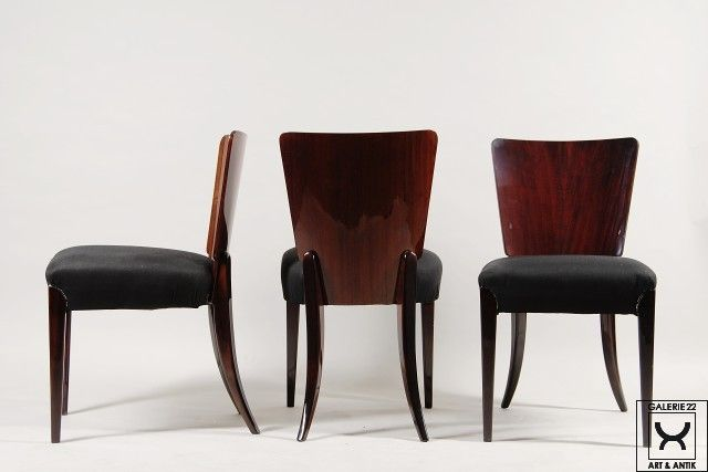Halabala Jindřich, Czechoslovakia, chairs, mahagony, 1940 - 1949, restored