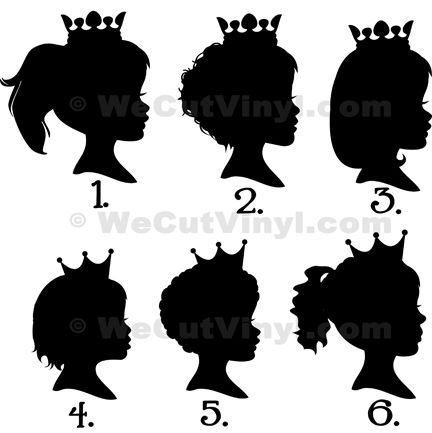 LDS Young Women: Girl w/Crown Silhouette vinyl decals