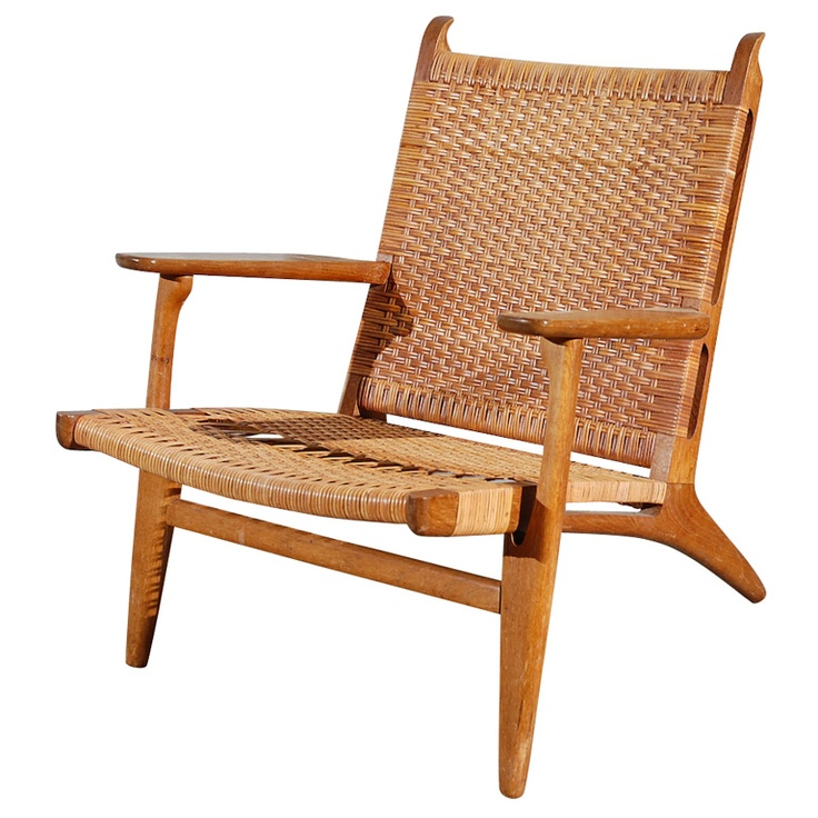 Hans Wegner caned armchair