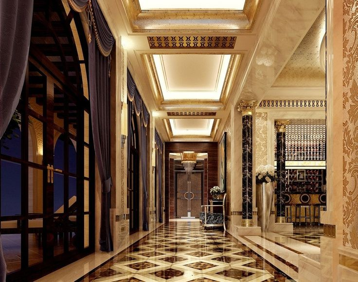 Luxury home interior design with a marble floor #marble #floor #home #interior #naturalstone