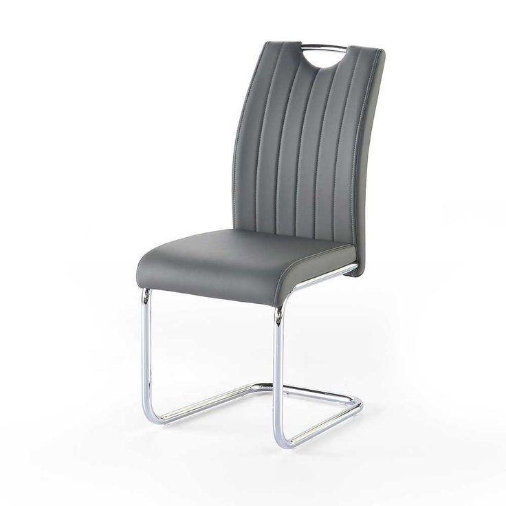 k chenstuhl set in grau kunstleder modern 2er set jetzt bestellen unter https moebel. Black Bedroom Furniture Sets. Home Design Ideas