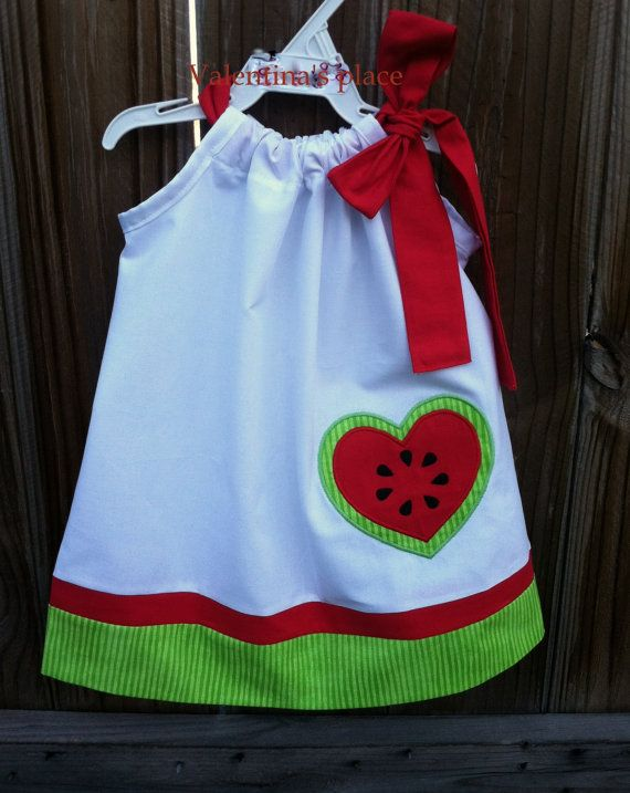 Super Cute Watermelon pillowcase dress by Valentinasplace on Etsy, $28.00