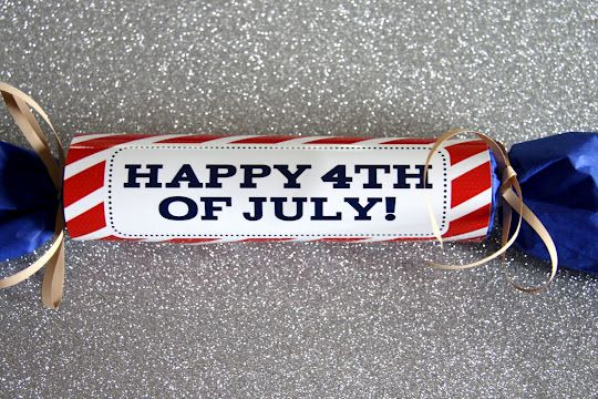 Printable 4th of July Treat Filled Firecracker