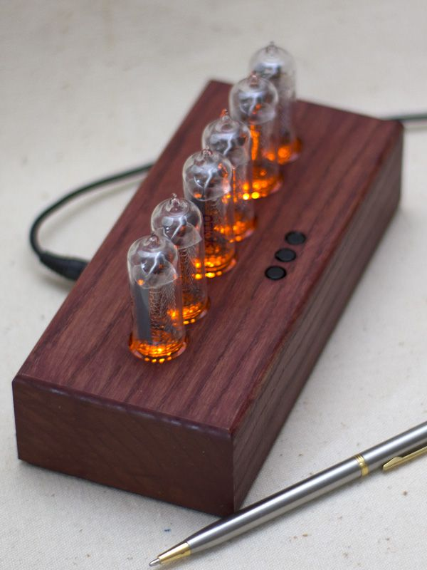 Nixie Tube Clock Assembled Using Vintage Soviet Russian Tubes In