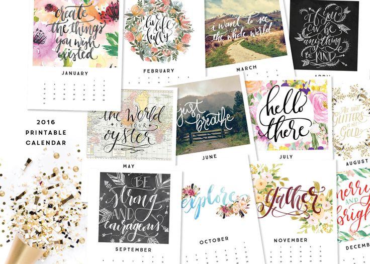 Inspirational Quotes Desk Calendar : Printable calendar inspirational quotes